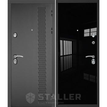Entrance door Lika, black luxury